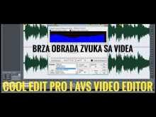Embedded thumbnail for Brza obrada zvuka sa videa - Cool Edit Pro i AVS video editor - Kako brzo urediti zvuk snimka sa tel